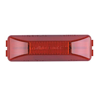 "Maxxima M20350R 12 LED Red 4"" Rectangular 2 Pin Clearance Marker Light: Automotive"