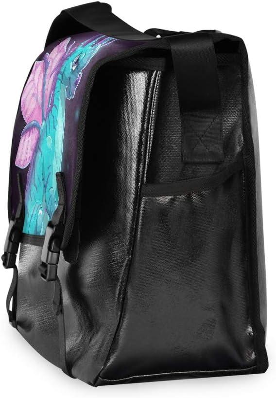 Messenger Bag Fantasy Dragon Unisex Satchel Office Briefcase Casual Canvas Shoulder Bag College Laptop Bag for Men Women