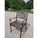 Cheap Oakland Living Mississippi Cast Aluminum Arm Chair, Antique Bronze
