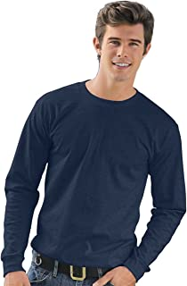 product image for BA5060 Bayside Adult Long Sleeve Tee - NAVY - S