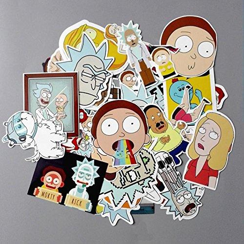 Brand New Rick and Morty Sticker Bundle - 35 Colorful Random Stickers Wubba Lubba Dub Dub
