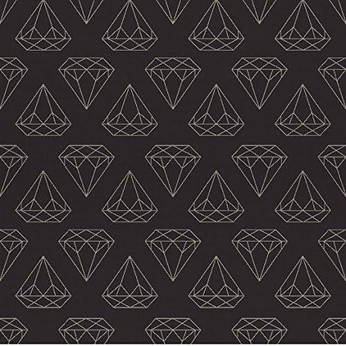 Amazon Com Removable Wallpaper Black Diamonds Are Forever 8ft