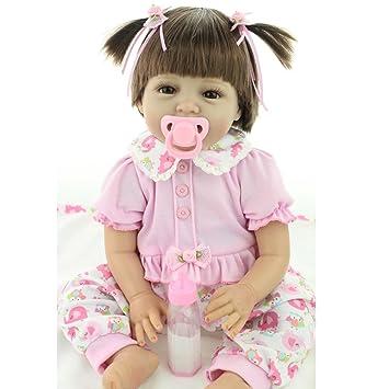 ZIYIUI 55cm 22 Pulgadas Muñecas Reborn bebé de Silicona Reales Silicona Suave de Vinilo bebé Reborn Hecho a Mano Recién Nacido bebé Muñecas Preciosa ...
