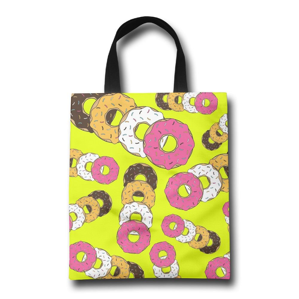 lovely Doughnut Funny Fashion Tote Bags Large Capacity Eco Friendly Tote Bags Market Bags With Straps