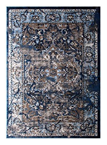 (Masada Rugs Oriental Vintage Distressed Area Rug Rafael Collection (4 Feet X 5 Feet 3 Inch))