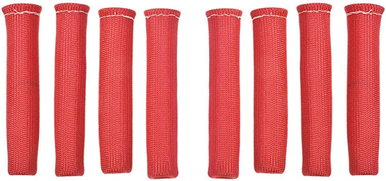 labwork RED 8PCS 1200/° Spark Plug Wire Boots Heat Shield Protector Sleeve SBC BBC