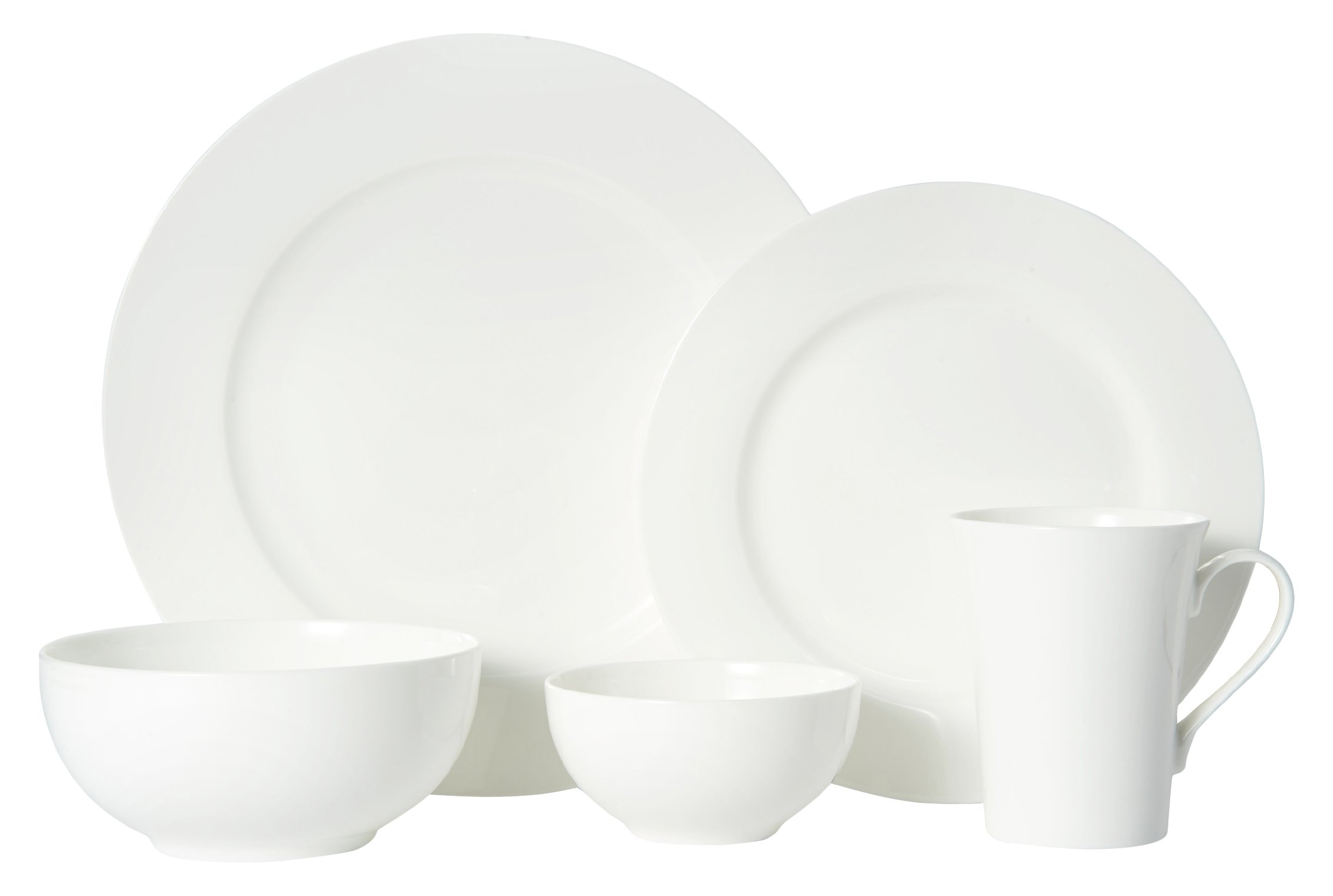 Mikasa 5225580 40 Piece Delray Bone China Dinnerware Set, White by Mikasa