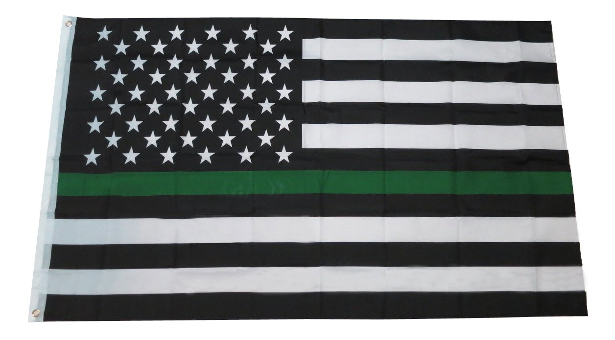 Amazon Thin Green Line Usa Flag For Army Military Sheriffs Law