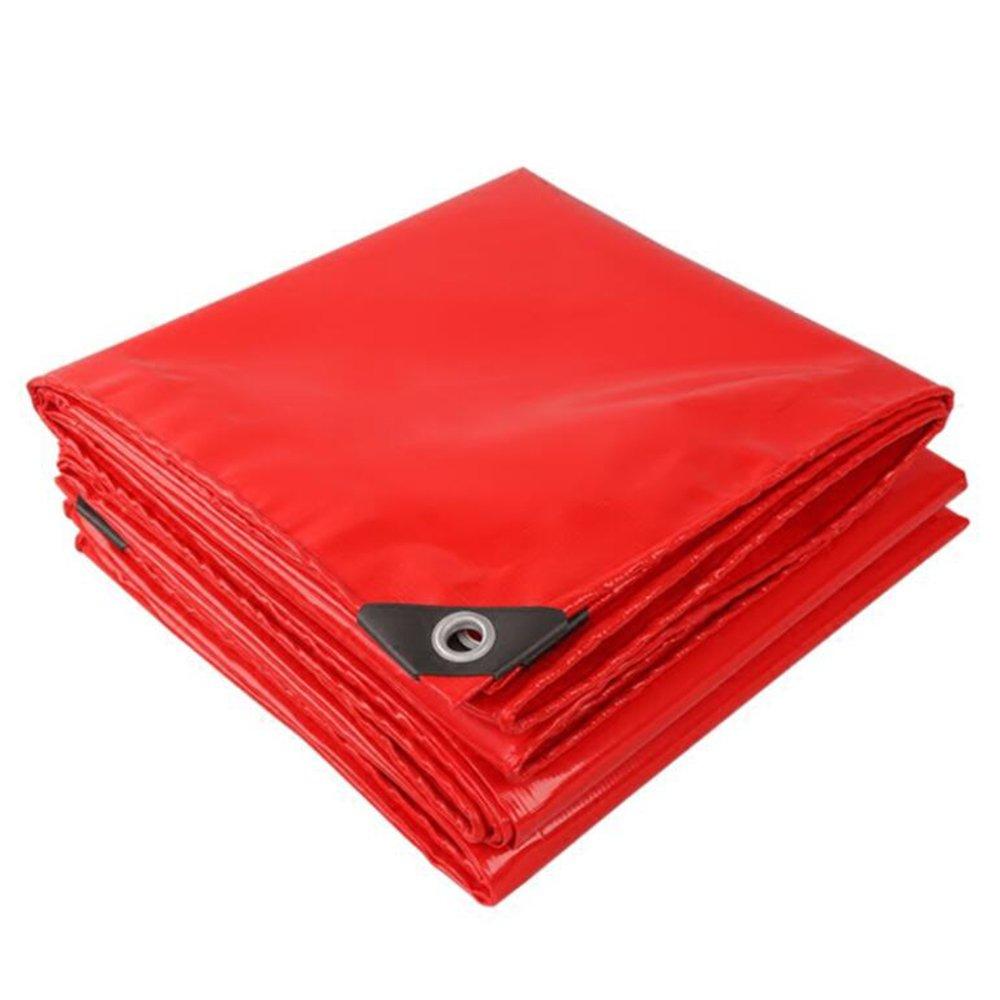 テントの防水シート 赤いお祝いのタパスリン\ PVCのタパスリン\お祝いの天蓋の布\防水の日焼け止めのキャンバス\雨の布\日布520g\㎡(厚さ0.45MM) それは広く使用されています (色 : 赤, サイズ さいず : 5*10m) B07D21TLLV 5*10m|赤 赤 5*10m