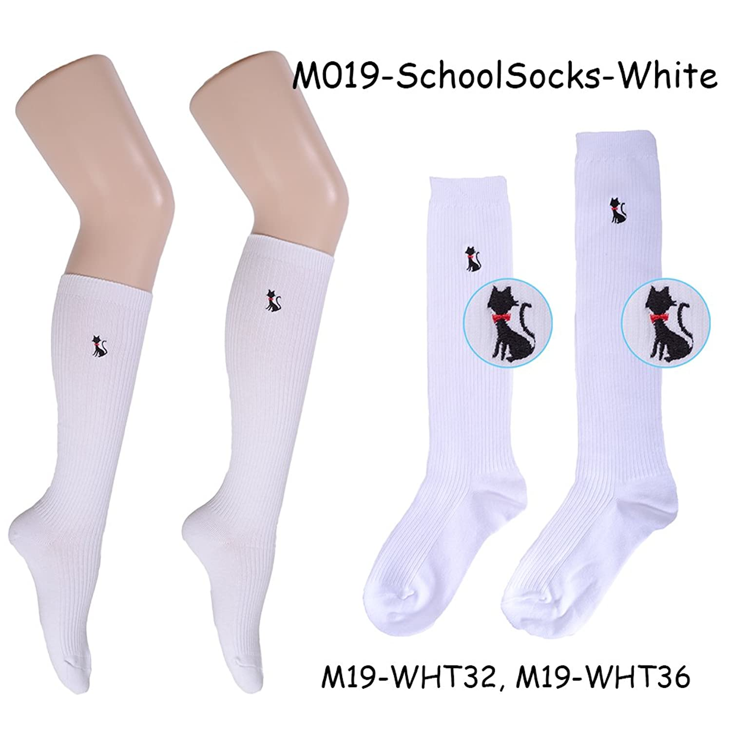 Lolita Charm Japanese School Socks-White