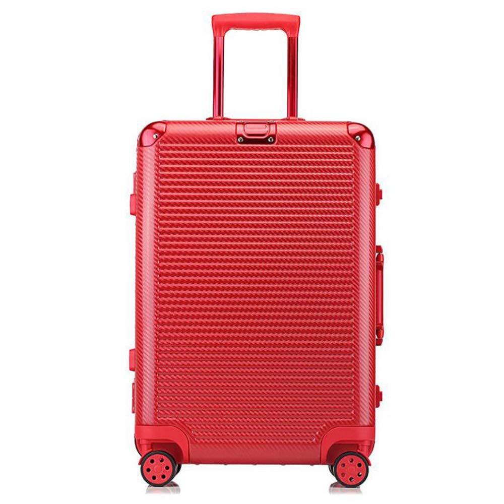 スーツケーストロリー手持ちのキャビン荷物ハードシェルトラベルバッグ軽量4スピナーホイール。防水通気性、耐摩耗性、耐衝撃性 44*26*70cm B07TC4YFBK Red
