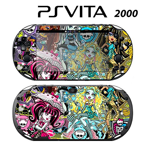 Decorative Video Game Skin Decal Cover Sticker for Sony PlayStation PS Vita Slim (PCH-2000) - Monster High Ghoul Skull -  Decals Plus