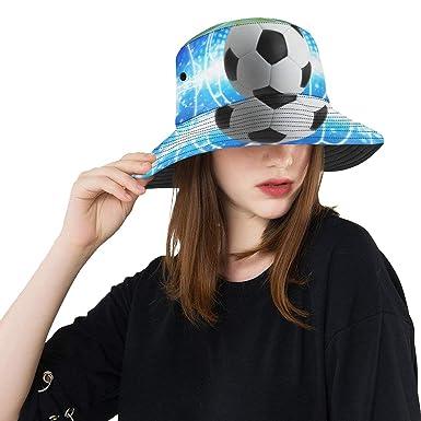 Sombrero Sol Mujer Deporte Bola Fútbol Campo de fútbol Brillo ...