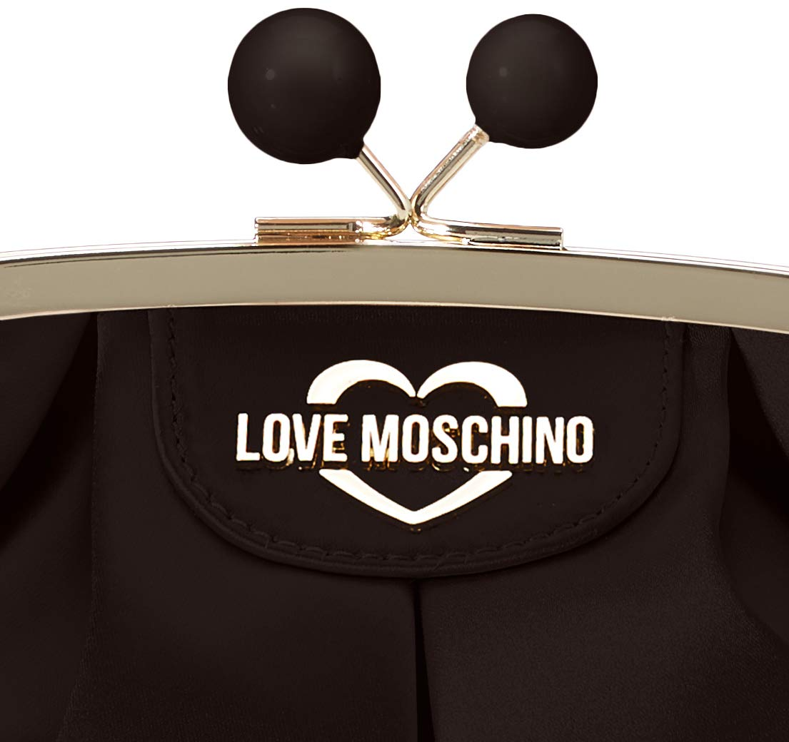 Love Moschino dam Jc4291pp0a clutch, 13x13x20 centimeter Svart (svart satin)