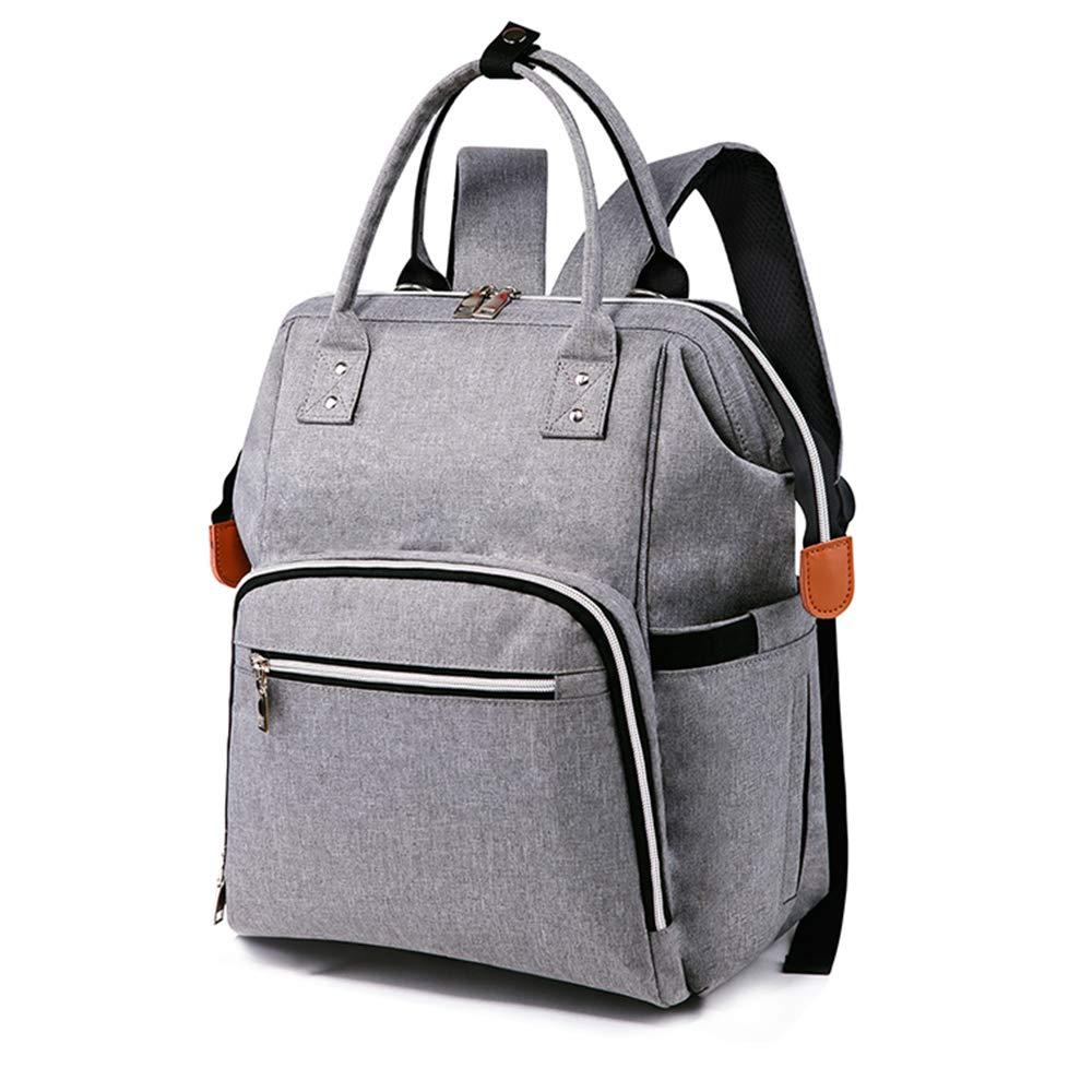 LOSMILE Baby Wickelrucksack Wickeltasche mit Kinderwagenhaken Multifunktional Babytasche Reisetasche Rucksack f/ür Unterwegs Grau