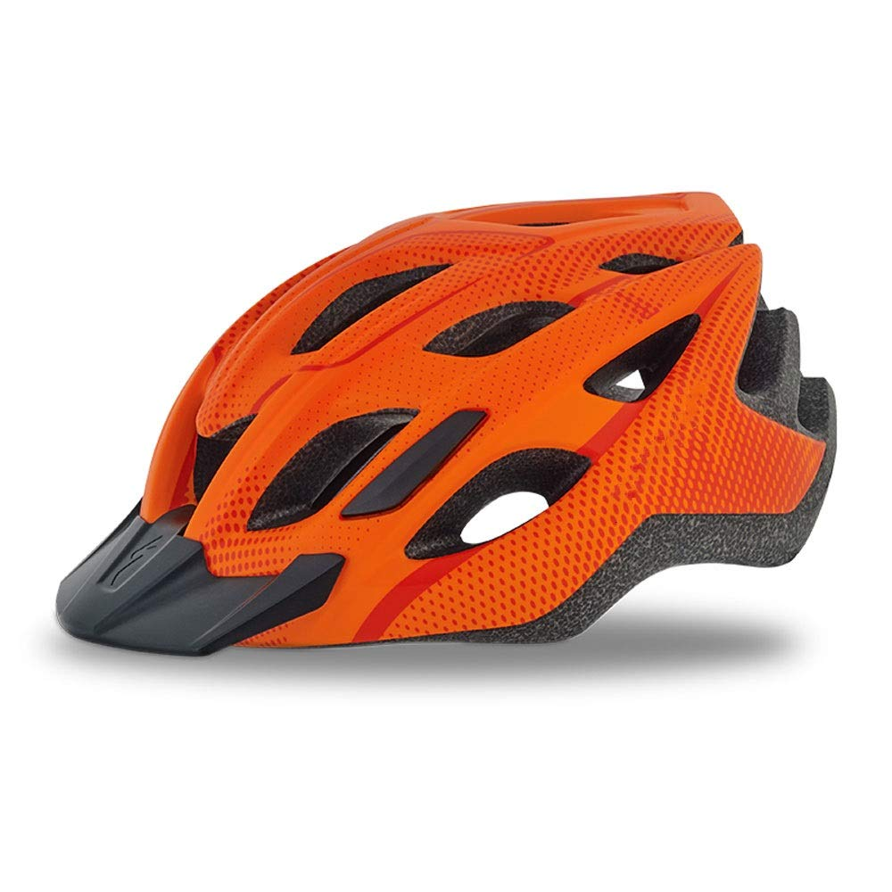 ZCF Cycling Helmet Bicycle Road hat Mountain Bike Male Riding hat Bicycle Equipment Safety Helmet Female hat Lightning Leisure Helmet Ventilation Design Detachable (Color : Orange)