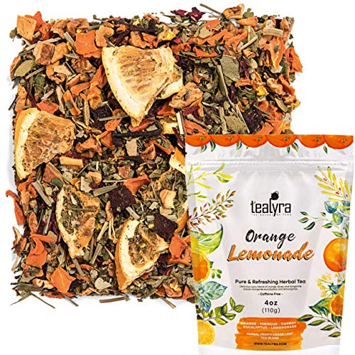 Tealyra - Orange Lemonade - Hibiscus - Eucalyptus - Lemongrass - Herbal Fruity Loose Leaf Tea Blend - Vitamins Rich - Boost Immune System- 100% Natural - Hot and Iced - Caffeine-Free - 110g (4-ounce)