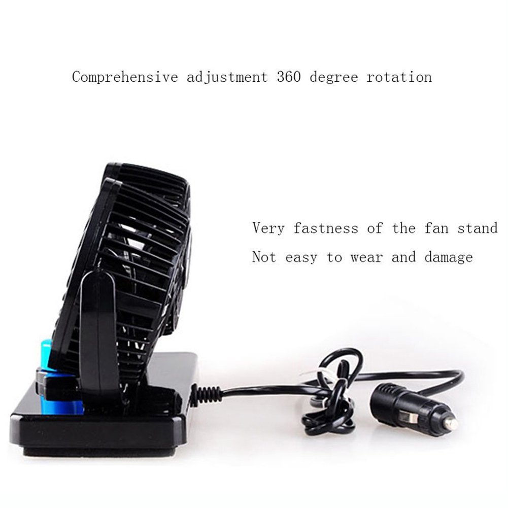 SAVEMORE4U18 DC 12V Dual Fan 360/° Mini Auto Car Air Cooling Fan Cooler Adjustable