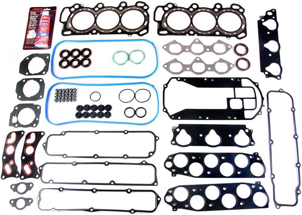 Fit Honda Acura J32A1 J32A2 J35A3 J35A4 Engine Cylinder Head Gasket Set w// Bolts