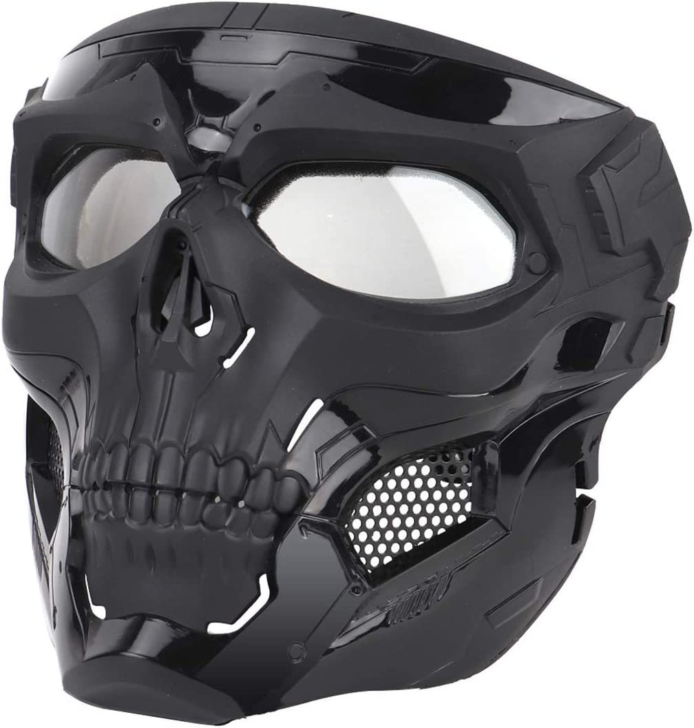 Amazon Com Ideko Airsoft Skull Mask Skull Full Face Protective Masks Tactical Mask For Airsoft Cs Wargame Halloween Cosplay Party Sports Outdoors