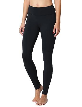 c3d4bf906b Baleaf Women's Fleece Lined Leggings Yoga Pants Inner Pocket Dark Blue Size  S. Roll over image to ...