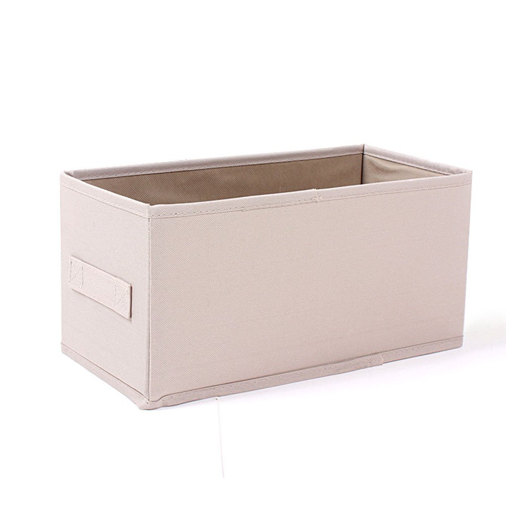 Joyfeel buy 1 Stück Platz zusammenklappbar Oxford Tuch Ablagekorb Multifunktions staubdicht ohne Abdeckung Aufbewahrungsbox (Khaki)