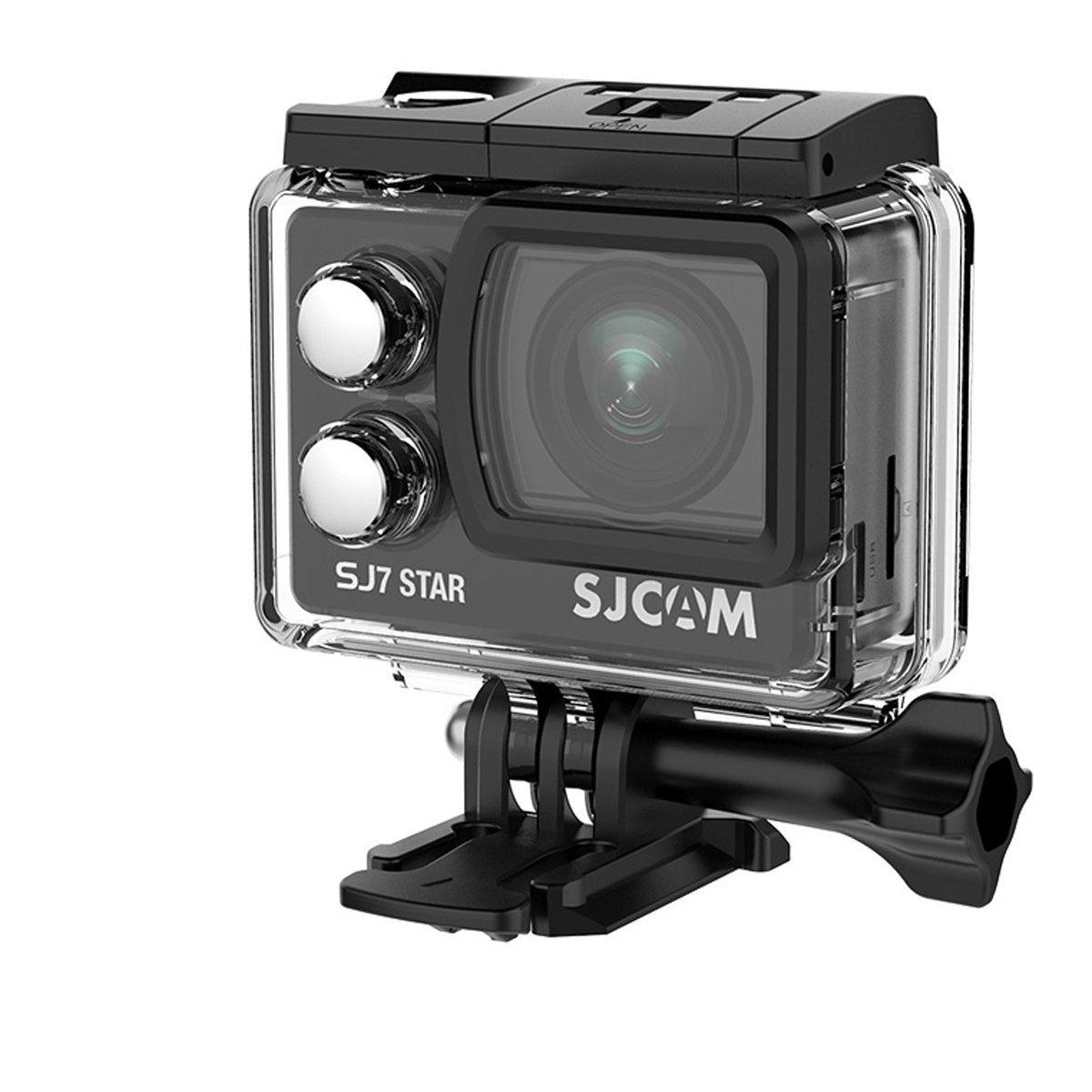 SJCAM SJ7 STAR(2017年改良版) 4Kアルミニウムボディスポーツカメラ(追加電池*1、microsd 16GB*1同梱)タッチスクリーン ジャイロスコープ アクションカメラ  ブラック B01M8O7GO8