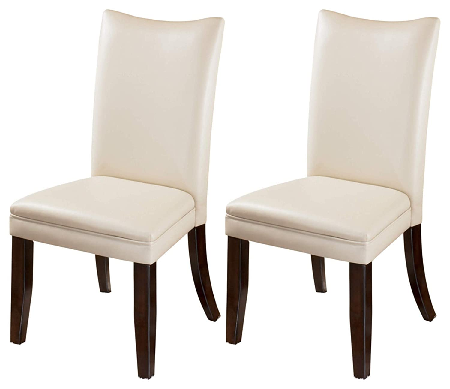 Amazon.com   Ashley Furniture Signature Design   Charrell Dining Side Chair    Curved Back   Set Of 2   Ivory   Chairs