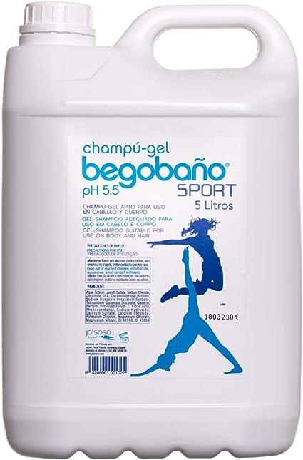 Begobaño Gel De Baño Apto Para Cabello, 5 litros, Pack de 1: Amazon.es: Belleza