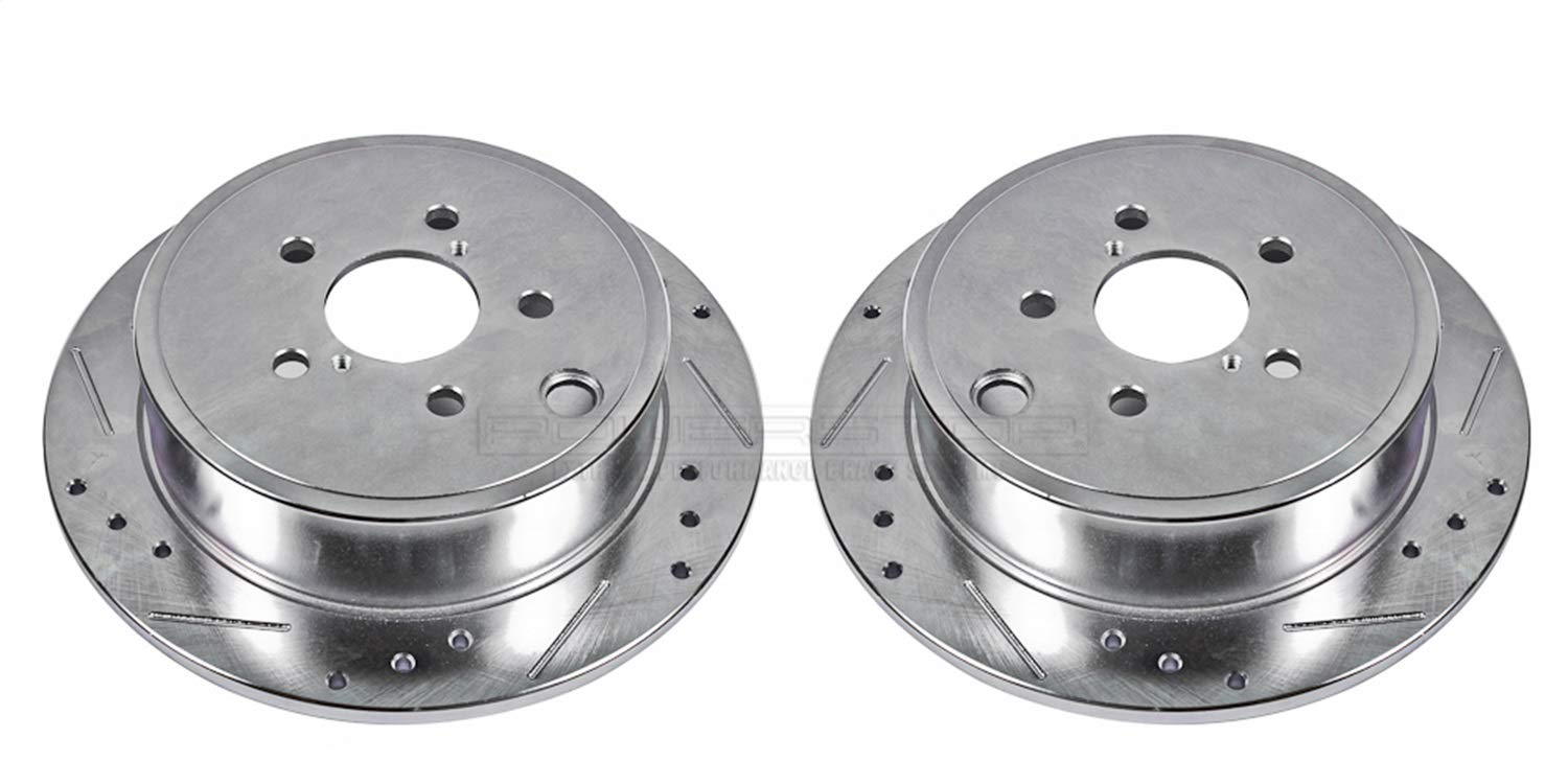 Power Stop JBR1365XPR Rear Evolution Drilled /& Slotted Rotor Pair