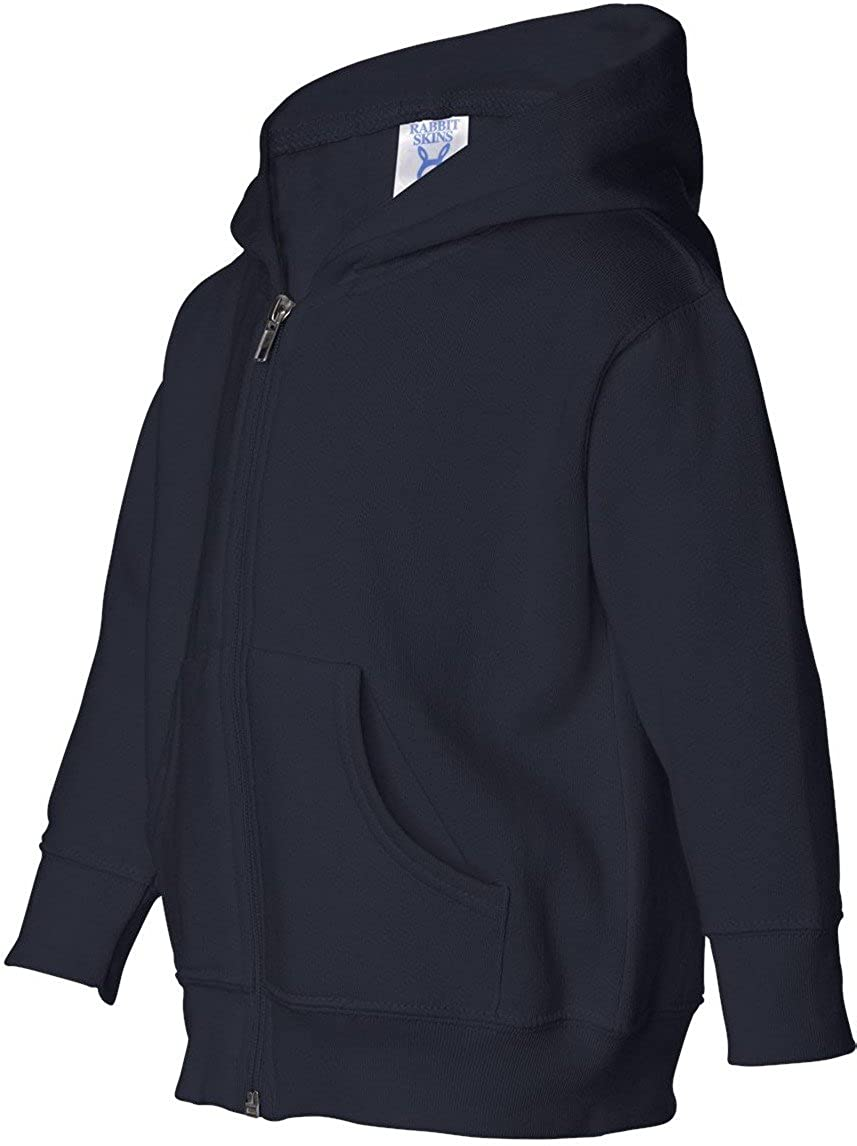 Rabbit Skins Big Girl's Zip Jersey-Lined Hooded Sweatshirt 3346