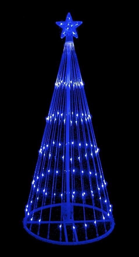 LB International 6' Blue LED Light Show Cone Christmas Tree Lighted Yard  Art Decoration - Amazon.com : LB International 6' Blue LED Light Show Cone Christmas