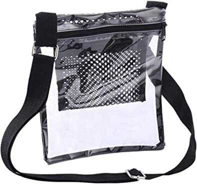 Sports Games Concerts Clear Crossbody Purse Bag NFL Stadium Approved Clear Bag for Women and Man with Adjustable Strap for Work School