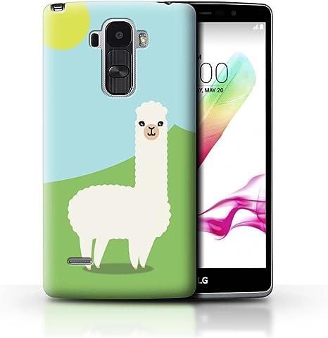 STUFF4 Phone Case/Cover/Skin/LG-CC/Carcasa Alpaca colección White ...