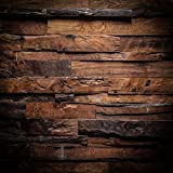 10x10ft Vintage Photography Backdrop Brown Wood Photo Booth Props Birthday Seamless Background for Parties Holiday Backdrop 3926