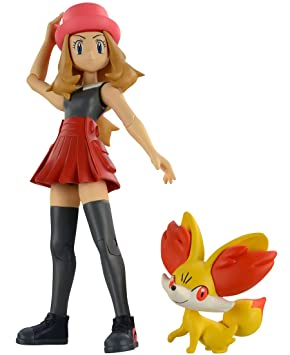 Takara Tomy Pokemon Monster Collection Serena & Fennekin