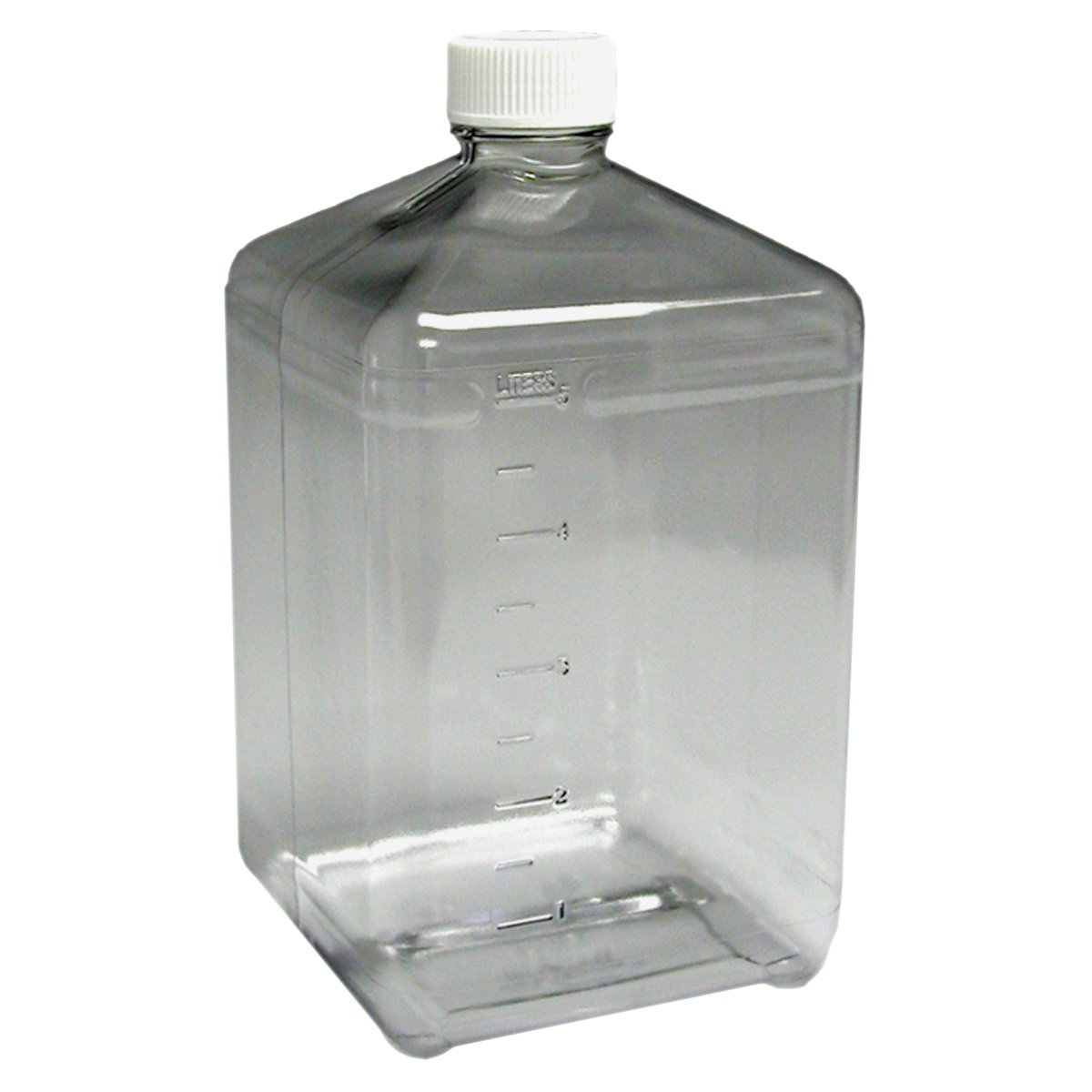 Nalgene 3405-42 Polycarbonate 5L InVitro Biotainer Carboy, without Handle, Sterile (Case of 6)