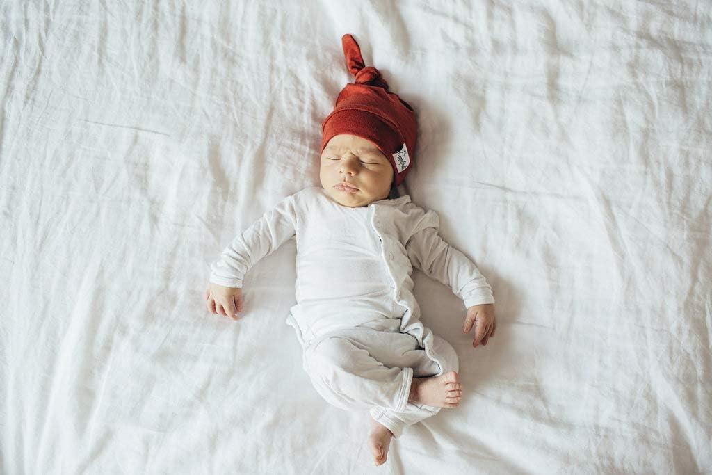 Copper Pearl Beanie Baby Sombrero superior del nudo el/ástico suaveretro Reci/én nacido 0-4 meses