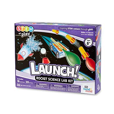 hand2mind LAUNCH! Rocket STEM Kits For Kids Ages 8-12, 18 Science Experiments and Fact-Filled Guide, Make Your Own Rocket, Solar System, And Rocket Races, Homeschool Science Kits: Industrial & Scientific