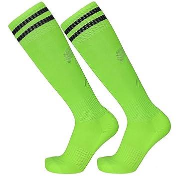 Calcetines Deportivos, Largo De Tubo De Toalla Toallas para Adulto,Verde Fluorescente: Amazon.es: Deportes y aire libre