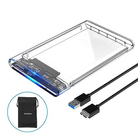 ELUTENG Boitier Disque Dur Externe 2.5   Boitier SSD HDD 7mm à 9,5mm ... d32e4812478a