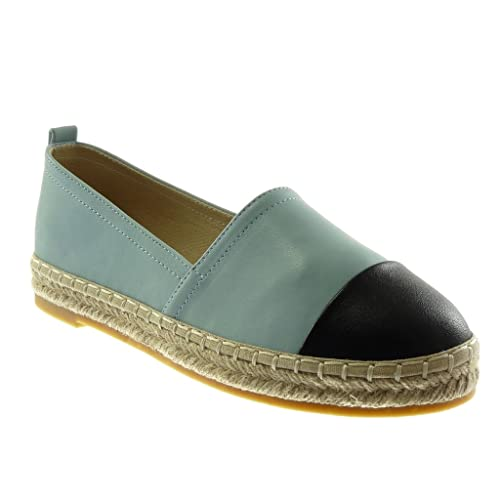 Angkorly - Zapatillas Moda Alpargatas Mocasines Bimaterial Mujer Cuerda Talón tacón Plano 2 CM: Amazon.es: Zapatos y complementos