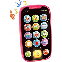 HOLA Baby Toy Phones for 1 + Year Old - Early Learning Educational Gifts - Role-Play Fun Toddler Toy with Lights, Music…