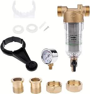 BIlinli Sistema de prefiltro de Agua Purificador de prefiltro de ...