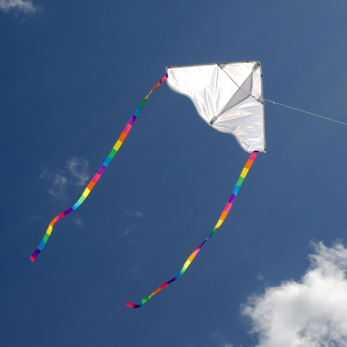 In the Breeze Coloring Delta 30 Inch Kite - 50 Piece Party Pack - Single Line Kite - Includes Crayons, Kite Line and Bag - Creative Fun for Kids and Adults by In the Breeze (Image #2)