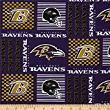 Zen Creative Designs 100% Cotton NFL Sports Team Baltimore Ravens Patchwork Print Window Valance Panel/Kids Nursery Window Treatment Decor (14'' Tall)