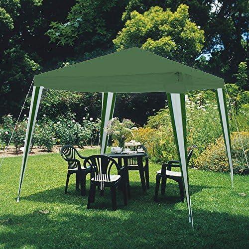 Cenador de PVC verde rayas impermeable para jardín feria mercado ...