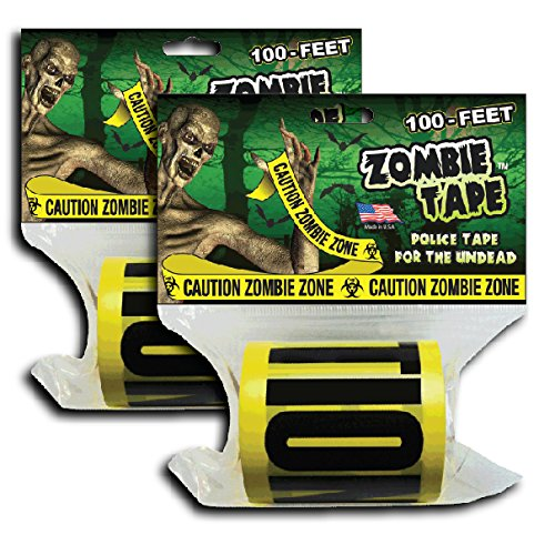 Zombie Tape 2-Pack - CAUTION ZOMBIE ZONE - Police / CSI / Crime Scene Tape]()