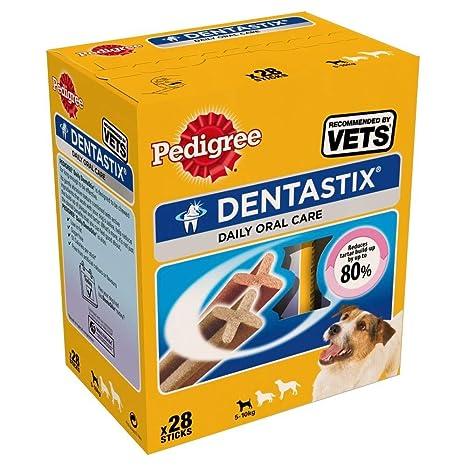 Pedigree Hundesnacks Hundeleckerli Dentastix Mini Tägliche Zahnpflege für kleine Hunde <10kg, 112 Sticks (4 x 28 Sticks)