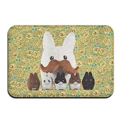 Personalized Moustache Rabbits Thin Low Profile Living Room Kitchen Home Area Rugs Bedroom Carpet Doormat, 40 60cm (16 24 Inches) (Outdoor Furniture Tampa Bay Area)
